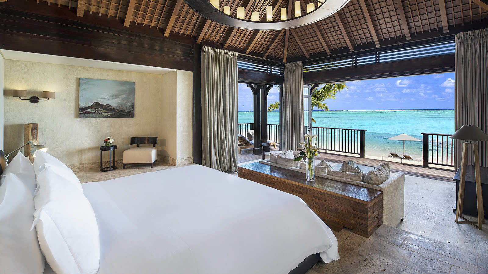 St. Regis Mauritius Private Villa bedroom with sea view