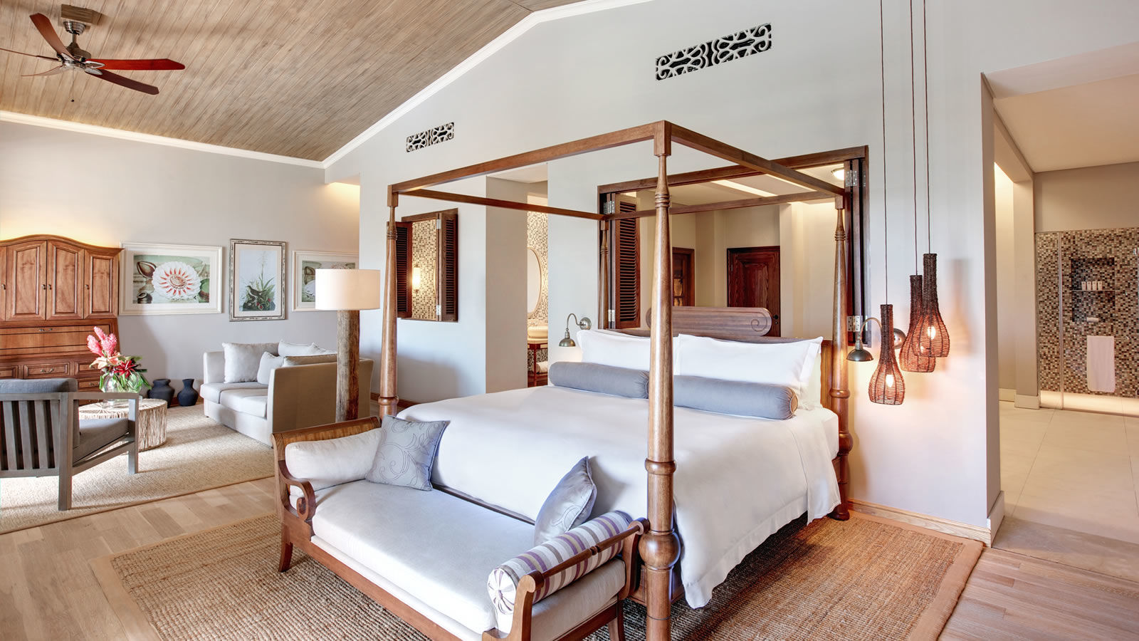 St. Regis Mauritius Ocean View Manor House Suite bedroom