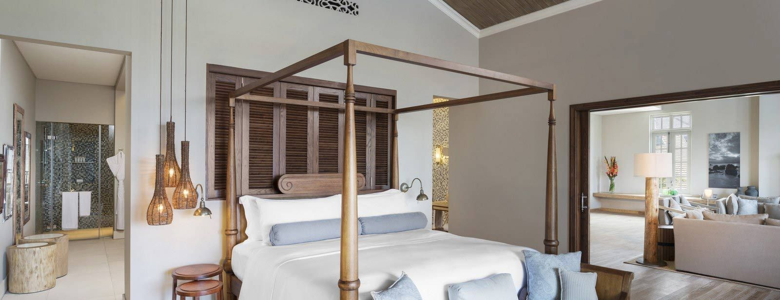 St. Regis Mauritius Ocean View Grand Manor House Suite bedroom